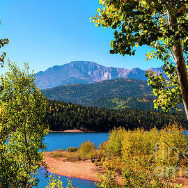 Crystal Reservoir And Pikes Peak In Autumn by Steve Krull