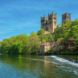 Durham Cathedral And River Wear In Spring In Durham, England by Iordanis Pallikaras