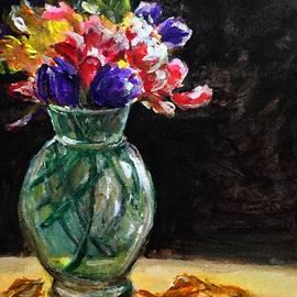 Flowers in Vase by Lavender Liu