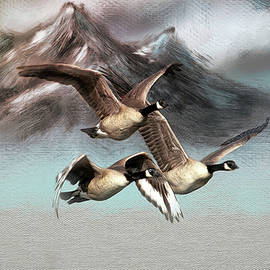 Flying South For Winter by Donna Kennedy
