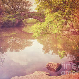 Gapstow Bridge in Spring - Central Park New York by Miriam Danar