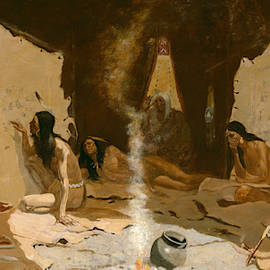 Historians Of The Tribe by Frederic Remington
