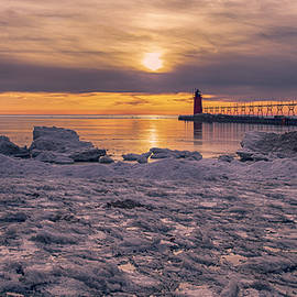 Icy Sunset by Mike Griffiths