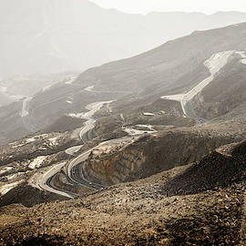 Jebel Jais road in UAE by Alexey Stiop