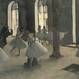 Edgar Degas - La R  p  tition au foyer de la danse