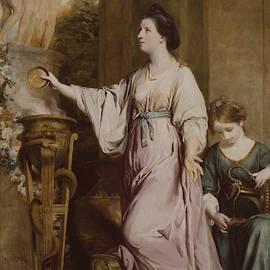 Lady Sarah Bunbury Sacrificing To The Graces by Joshua Reynolds