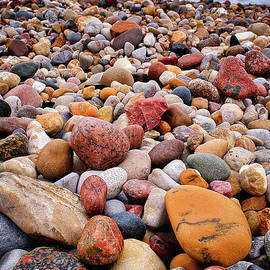 Lake Huron Beach Rocks RO9568 by Mark Graf