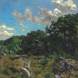 Landscape At Chailly by Frederic Bazille