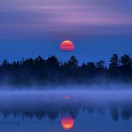 Marl Lake Cherry Sunrise by Ron Wiltse