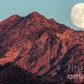 Moon Rising Over Twin Peaks by Spencer Baugh