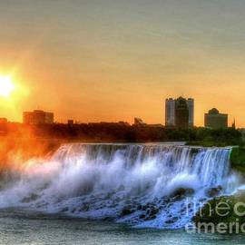 Niagra Falls Sunset by Charlene Cox