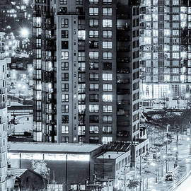 Nighttime Urban Sprawl Vancouver by Neptune - Amyn Nasser Photographer