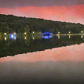 Orange New Jersey Reservoir by Yuri Lev