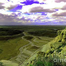 Painted desert landscape by Jeff Swan