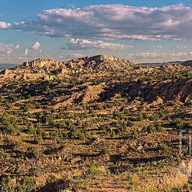 Panorama Of Nambe Badlands On The High Road To Taos - Chimayo New Mexico Land Of Enchantment by Silvio Ligutti