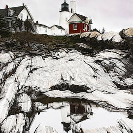 Pemaquid lighthouse in Bristol Maine by Jeff Folger