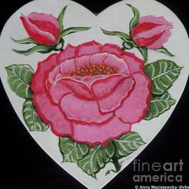 Pink Rose by Anna Folkartanna Maciejewska-Dyba