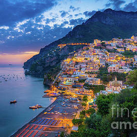 Positano Evening by Inge Johnsson