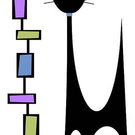 Rectangle Cat 2 by Donna Mibus