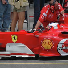 Rubens Barrichello, Ferrari F2004 by James Hervat
