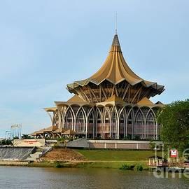 Sarawak state legislative parliamentary assembly building Kuching Malaysia by Imran Ahmed