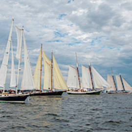 Schooners At The Start by Mark Duehmig