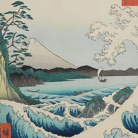 Seascape in Suruga, 19th century by Utagawa Hiroshige