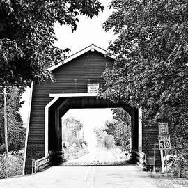 Scott Pellegrin - Shimanek Covered Bridge - BW