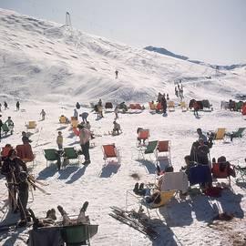 Skiers At Verbier