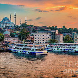 Sunset in Istanbul by Pavel Kotelevskii