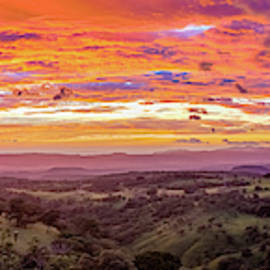 Sunset in Santa Rosa in Costa Rica by Alexey Stiop