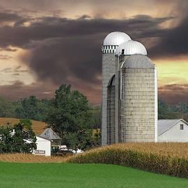 Sunset On The Farm Photo by David Dehner