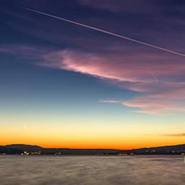 Sunset over Lake Constance by Bernd Laeschke