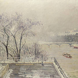 The Louvre Under Snow by Camille Pissarro