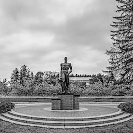 The Spartan Statue Black And White  by John McGraw