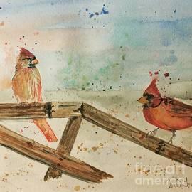Winter Cardinals by Denise Tomasura