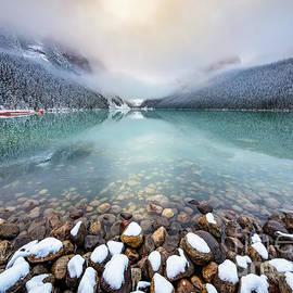 Winter Morning at Lake Louise by Inge Johnsson