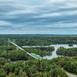 1000 Island View From Tower - Canadian Bridges by Leslie Montgomery