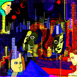 103  A Psychedelic City Night V .. by Irmgard Schoendorf Welch