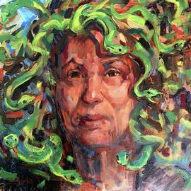 120 Self Portrait-madusa by Pamela Wilde