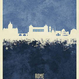 Rome Italy Skyline by Michael Tompsett