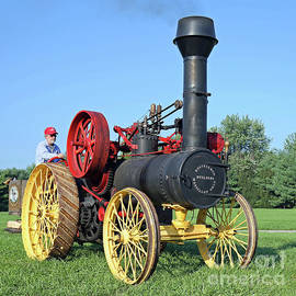 1889 Russell Steam Tractor by Steve Gass