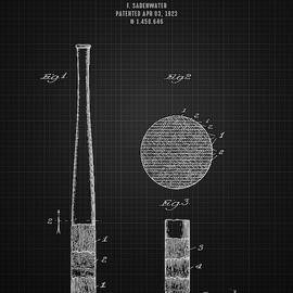 Aged Pixel - 1923 Baseball Bat - Black Blueprint