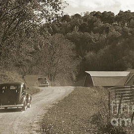 1930's Car Chase  by Ron Long