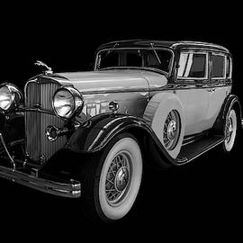 1932 Lincoln Sedan Black And White by TL Mair