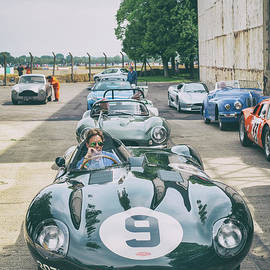 1955 Jaguar Dtype Sports Racing Car by Tim Gainey