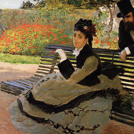 Claude Monet - Camille Monet on a Garden Bench, 1873