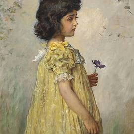 Pensive by John Everett Millais