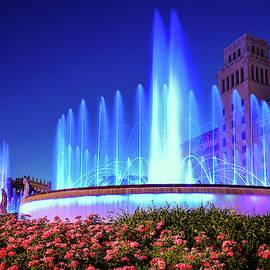 Plaza de Catalunya fountains by Alexey Stiop