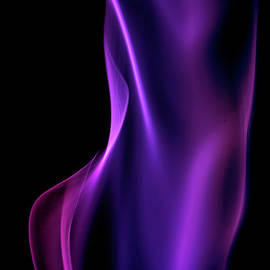 Purple Smoke On A Black Background by Gm Stock Films